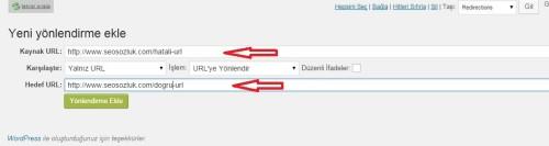 redirection eklentisi - WordPress URL Değiştirme