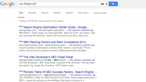 Google Dosya Türü
