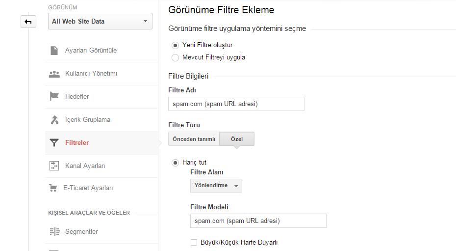 gorunume-filtre-ekleme
