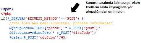 sunucu kodları