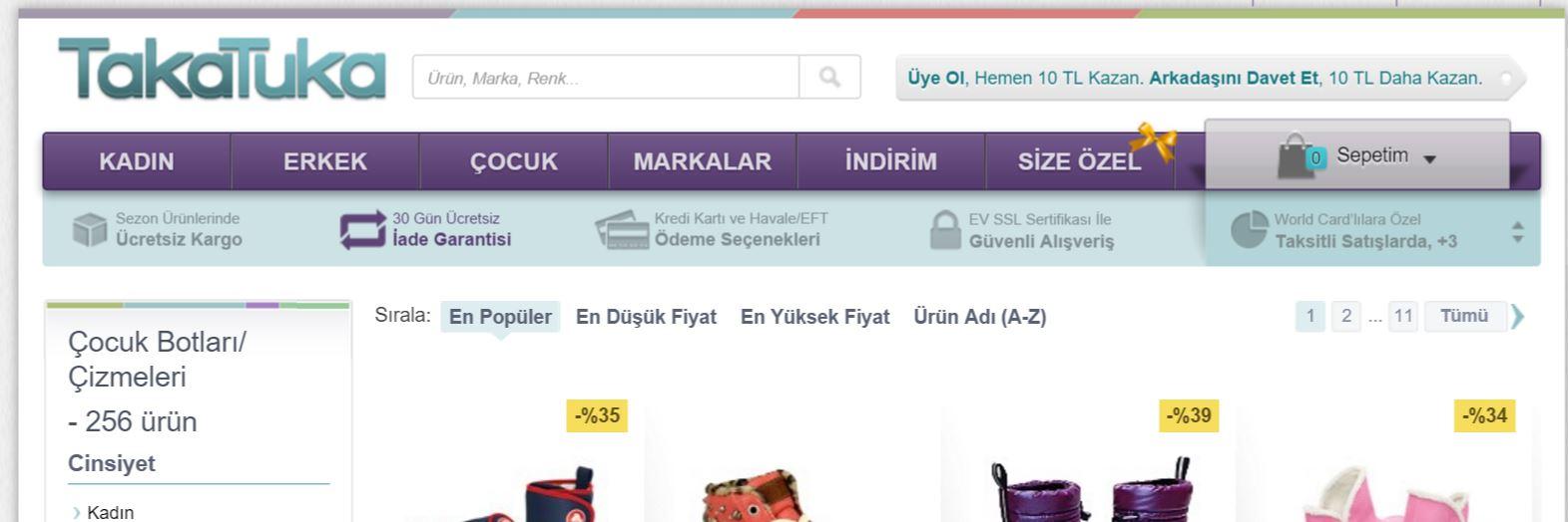 kategori sayfası müşteri bilgilendirme alanı
