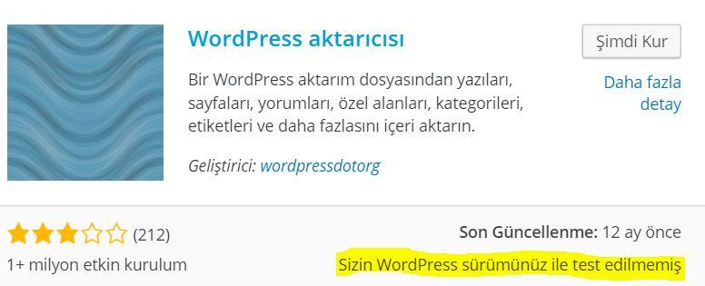 Wordpress SEO Nasıl Yapılır wordpress-eklenti-test-edilmemiş