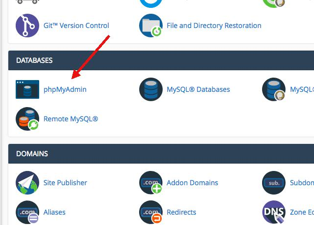 phpMyAdmin wordpress şifre sıfırlama