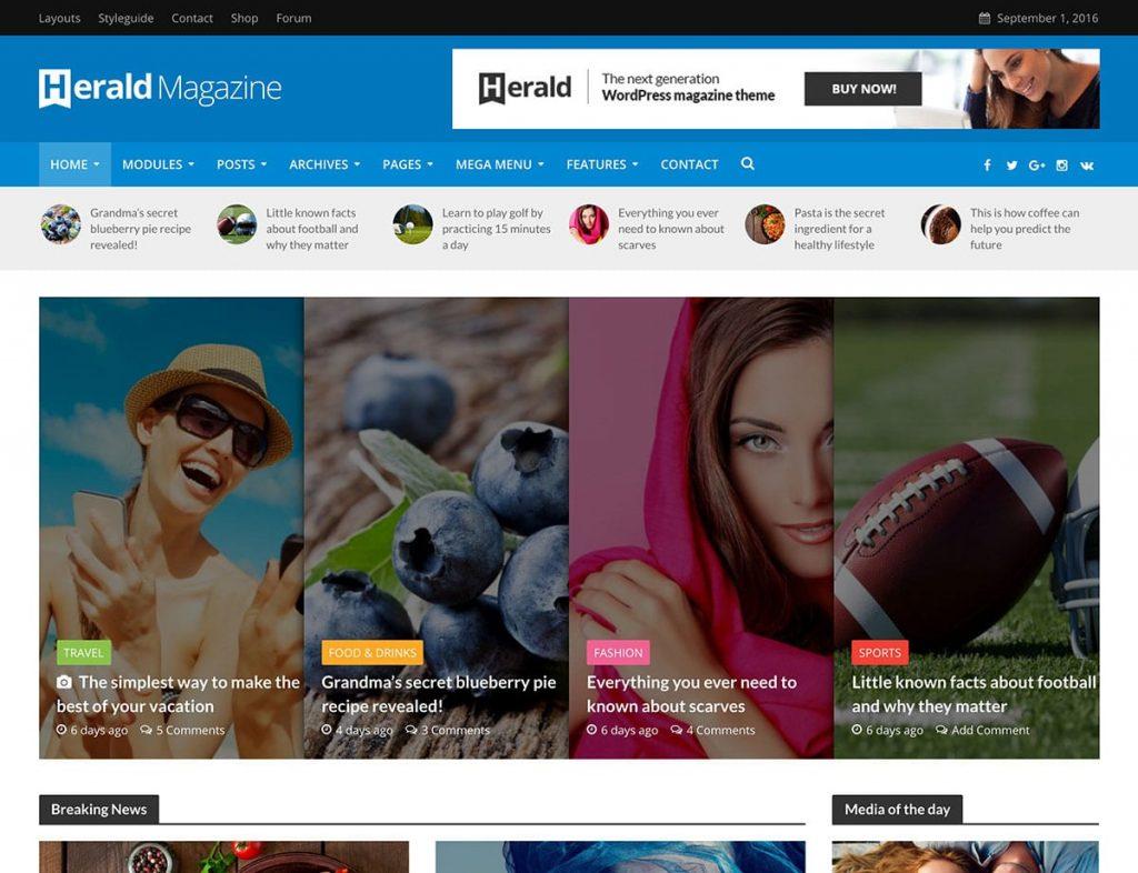 Herald WordPress Adsense Teması
