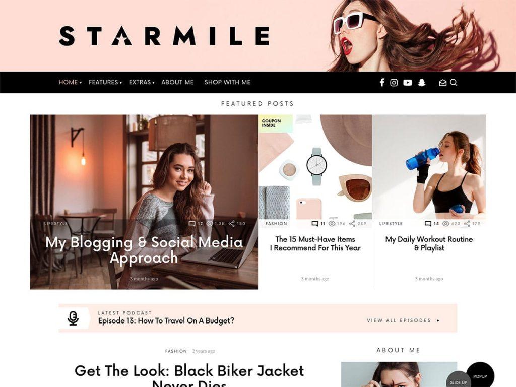 Starmile WordPress Adsense Teması