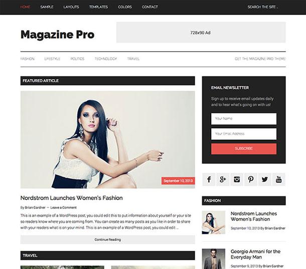 Magazine Pro - WordPress SEO Uyumlu Temalar