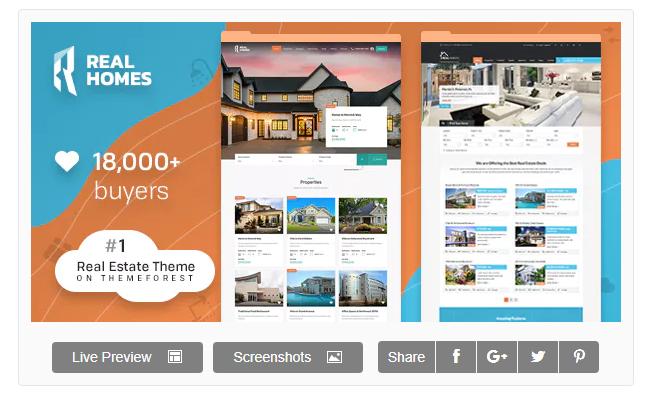 Real Homes WordPress Emlak Teması