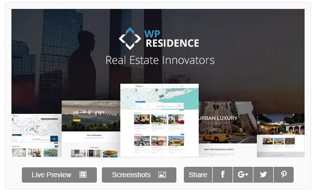 Residence WordPress Emlak Teması