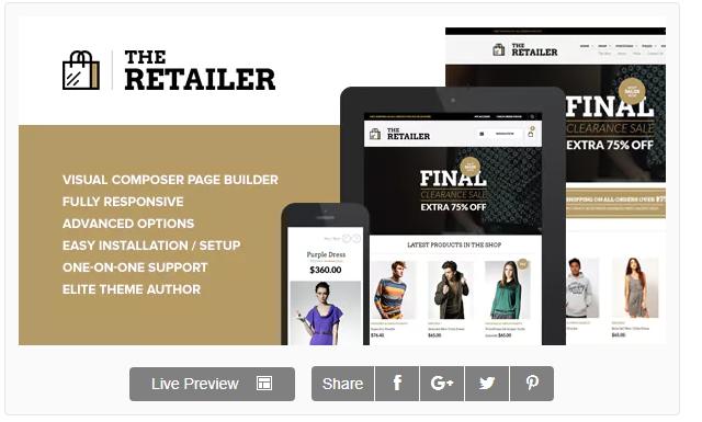 The retailer - WordPress Eticaret Teması