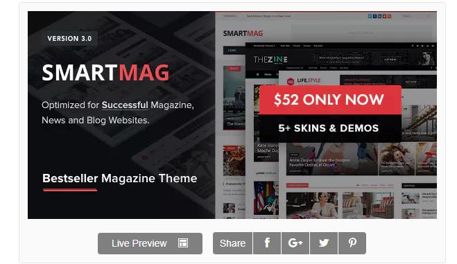 wordpress haber teması - smartmag