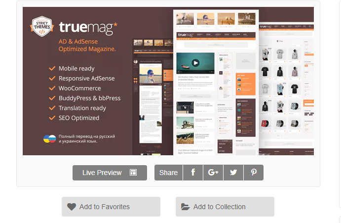 Truemag WordPress Adsense Teması